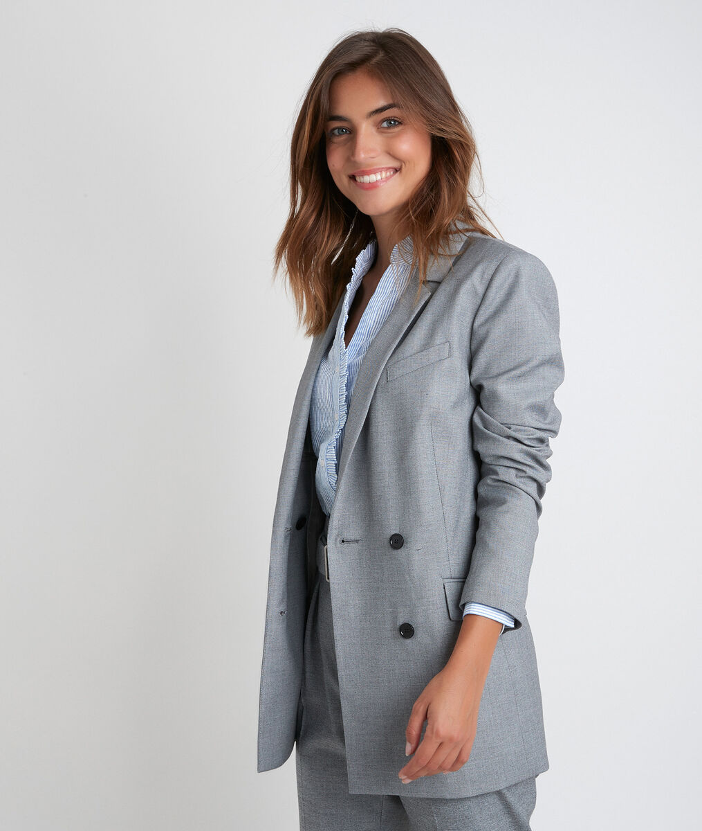 Taly crossover end-on-end weave tailored jacket PhotoZ | 1-2-3