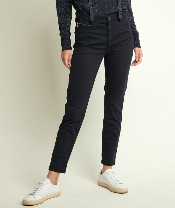 The iconic Sultan navy slim-fit cotton satin trousers PhotoZ | 1-2-3