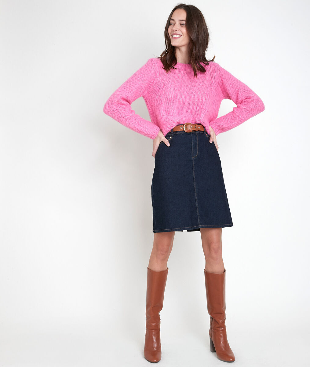Alabama pink mohair blend jumper PhotoZ   1-2-3