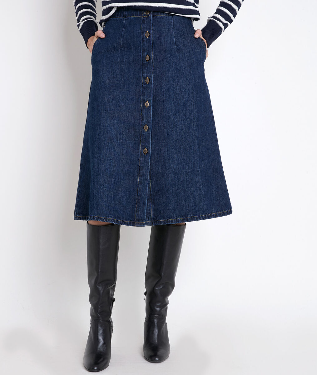 ELY raw denim maxi skirt PhotoZ | 1-2-3