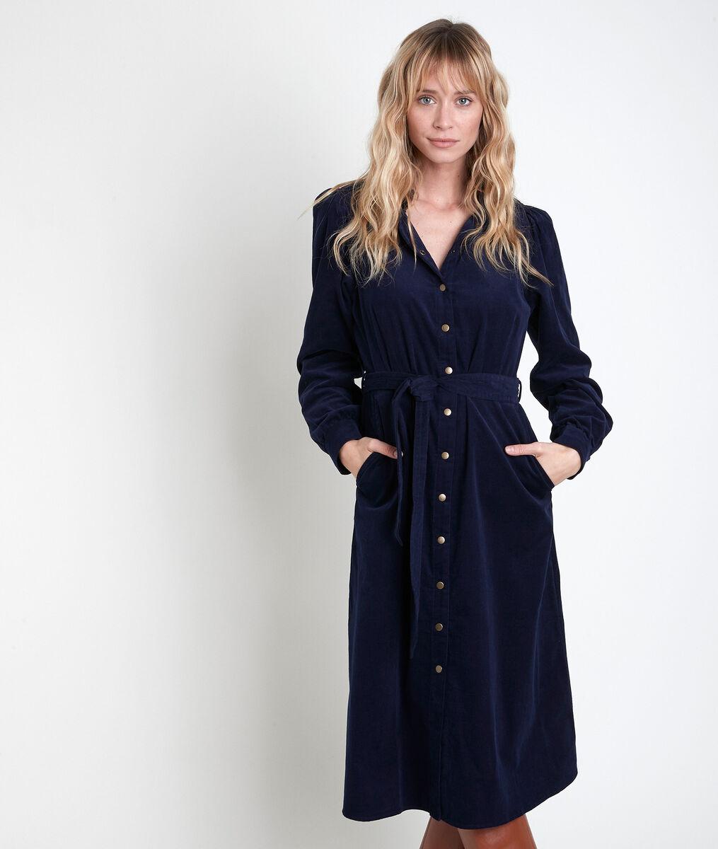 LAURA navy corduroy dress. PhotoZ | 1-2-3