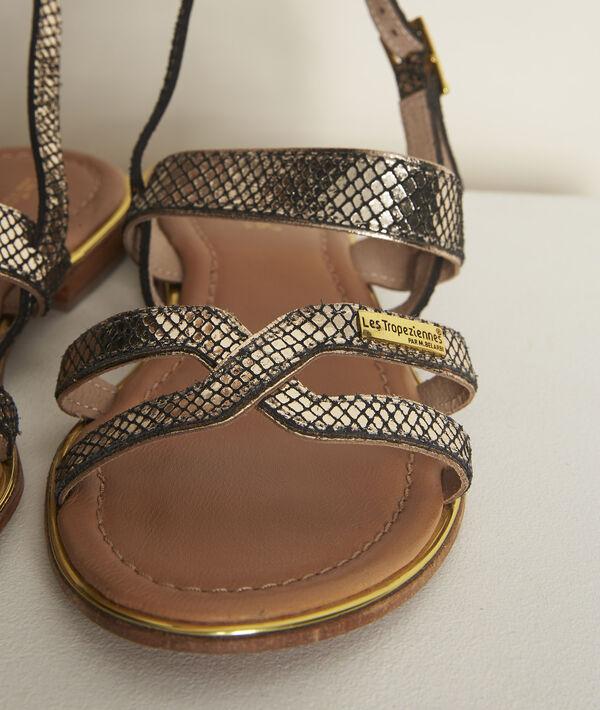 Les Tropéziennes Jodie python leather sandals PhotoZ | 1-2-3