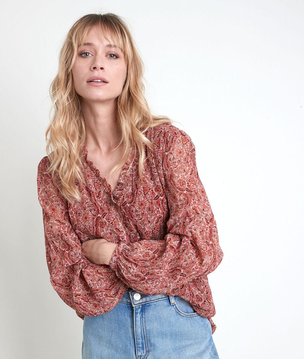 Tollya beige print blouse PhotoZ | 1-2-3
