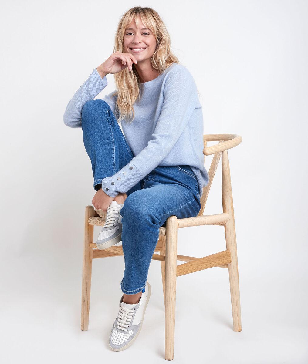River blue cashmere pullover  PhotoZ   1-2-3