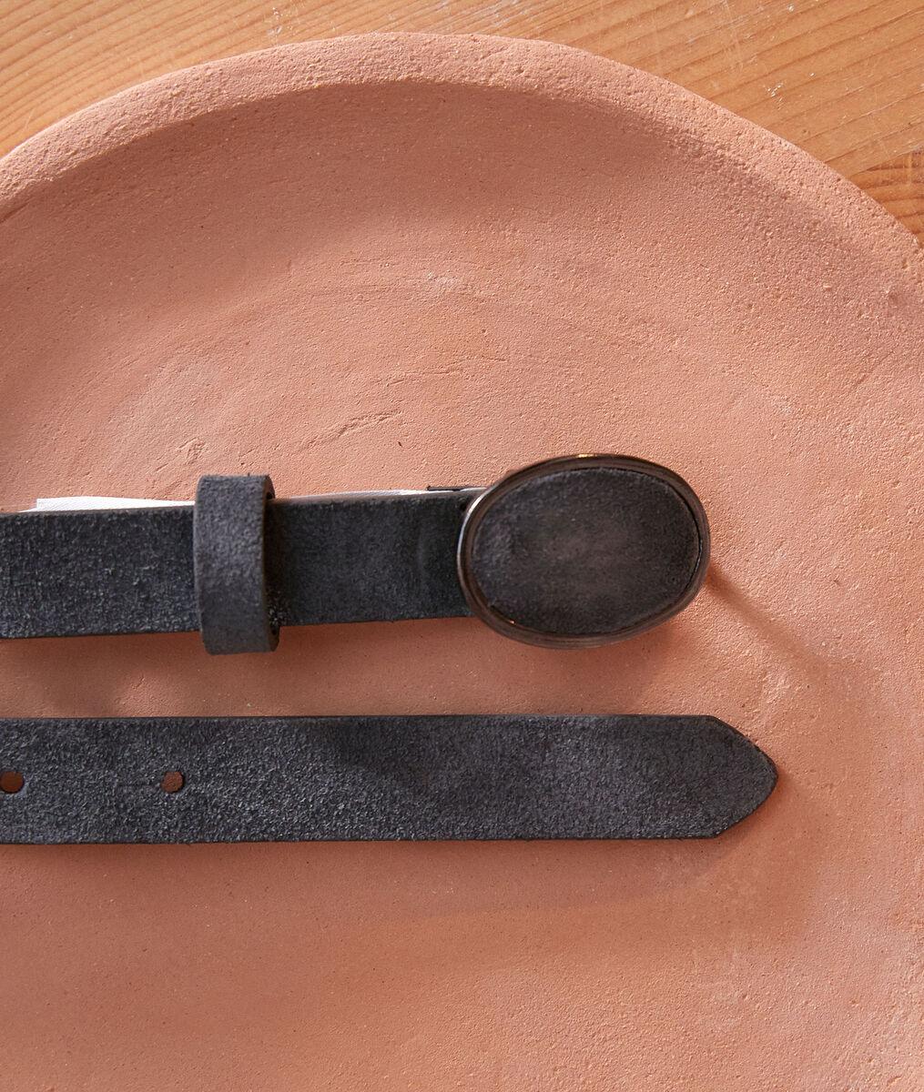 Evane slate-grey suede belt PhotoZ | 1-2-3