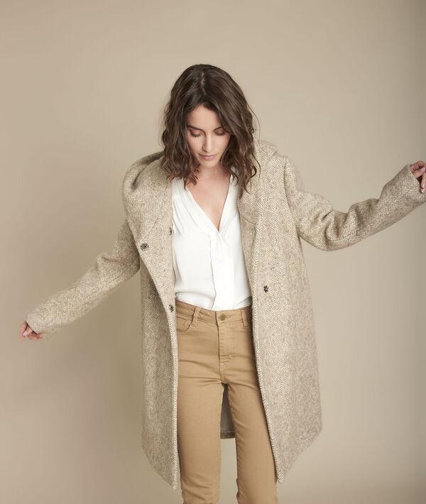 Edwin beige woollen coat PhotoZ | 1-2-3