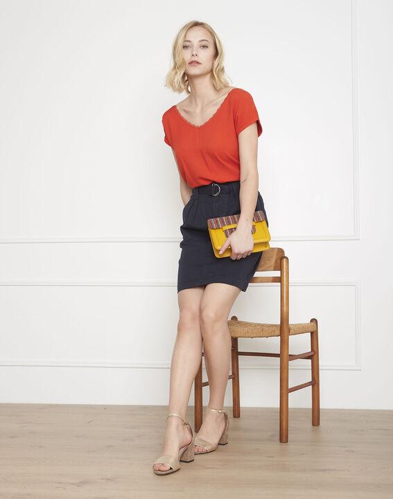 Sunset belted navy skirt PhotoZ | 1-2-3