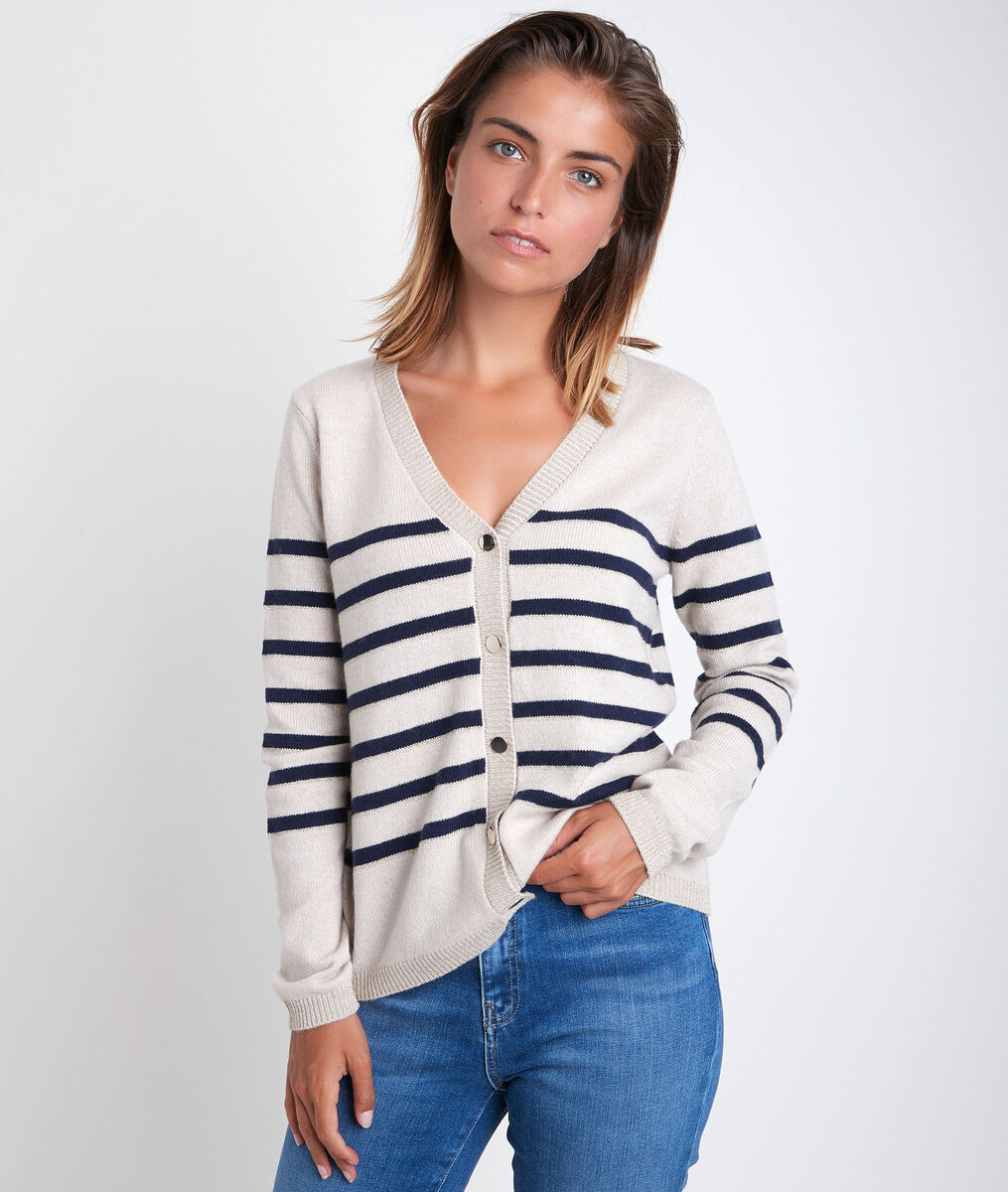 Rosa striped cardigan PhotoZ   1-2-3