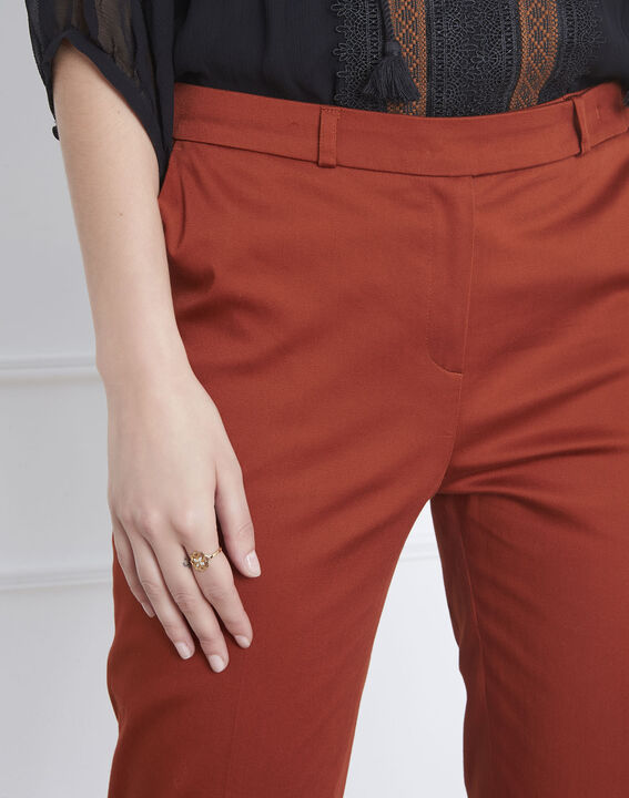 Rubis mahogany cigarette-cut trousers (3) - Maison 123