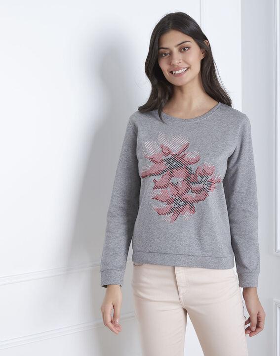 Pacco grey embroidered sweatshirt PhotoZ | 1-2-3