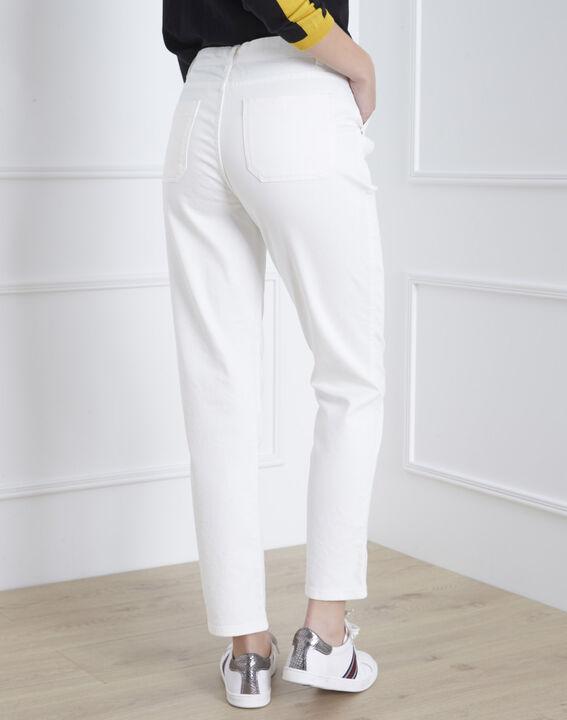 Coconut off-white 7/8 length boyfriend jeans (4) - Maison 123