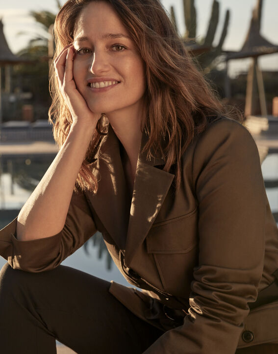 Freya khaki safari jacket PhotoZ | 1-2-3
