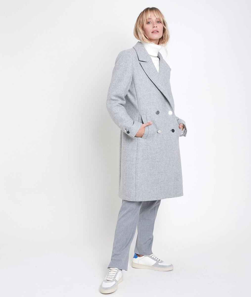 Jeff straight-cut grey coat PhotoZ | 1-2-3