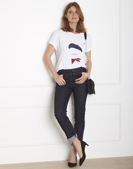 Ecru T-shirt with Palo House FT print PhotoZ | 1-2-3