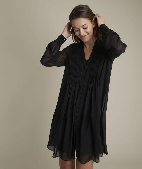 Coralie pleated silk dress PhotoZ | 1-2-3