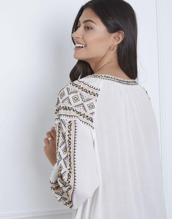 Vahan embroidered ecru blouse (4) - Maison 123