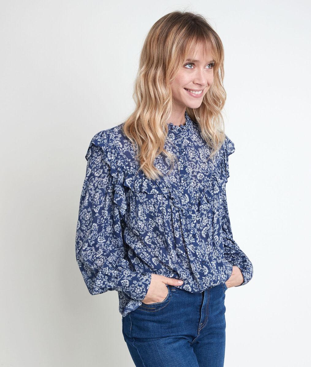 Themis navy print blouse PhotoZ | 1-2-3