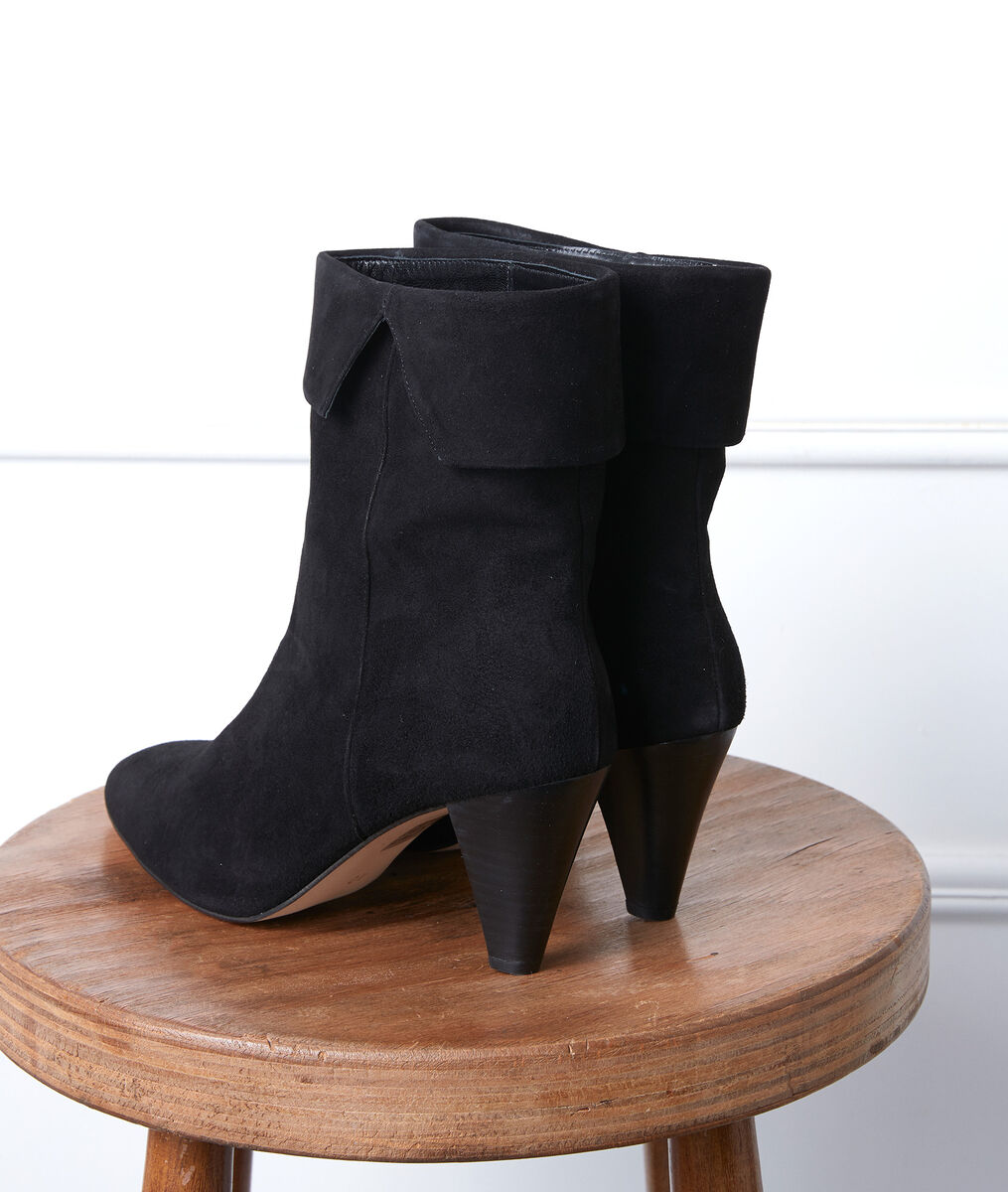 Valencia black high-heeled ankle boots PhotoZ | 1-2-3