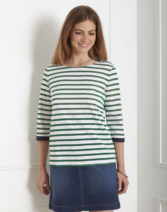 Payure sparkly green striped T-shirt PhotoZ | 1-2-3