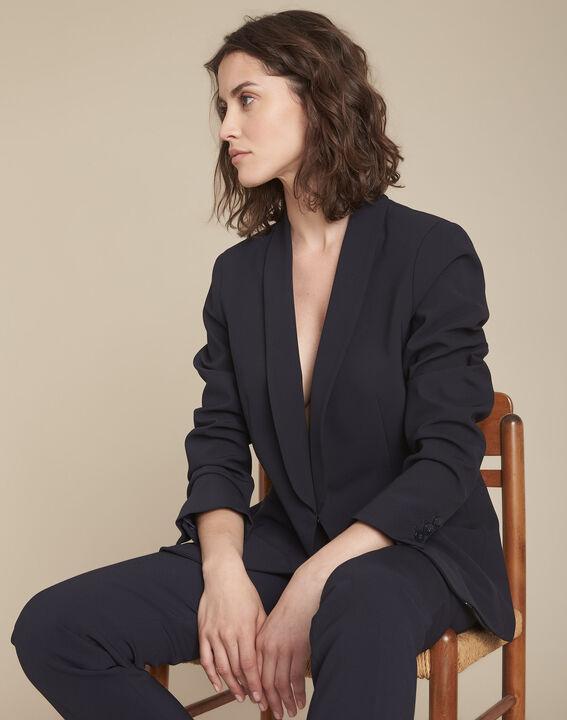 Stella navy microfibre shawl collar jacket PhotoZ | 1-2-3