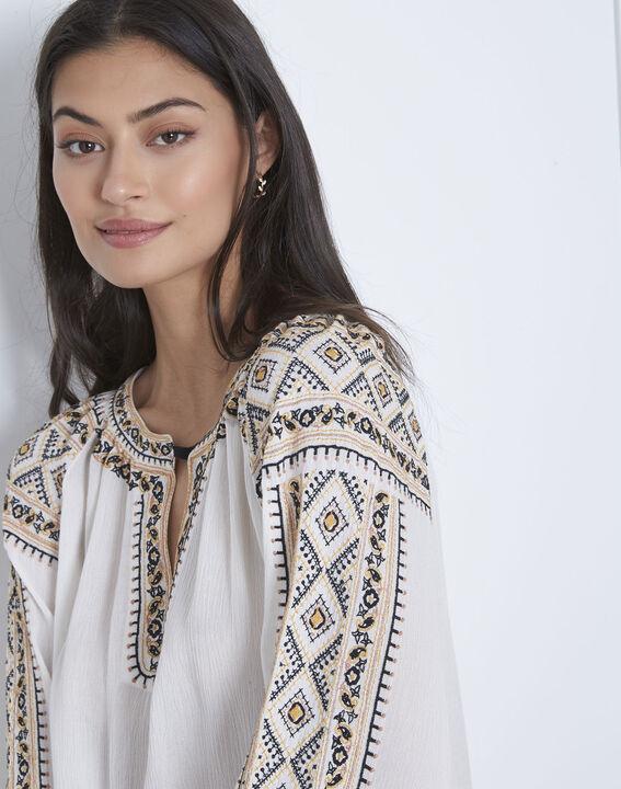 Vahan embroidered ecru blouse (3) - Maison 123
