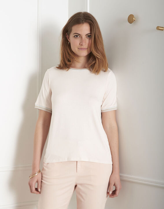 Proove powder pink T-shirt with ribbon details PhotoZ   1-2-3