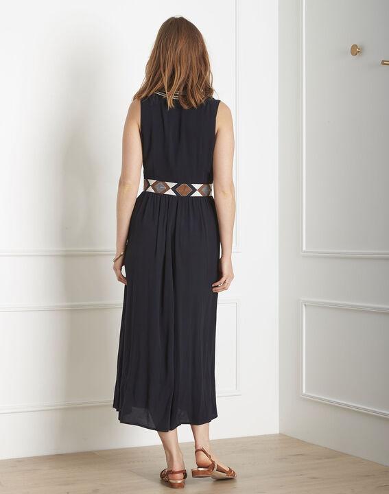 Lindsay navy embroidered ethnic dress (3) - Maison 123