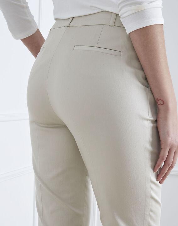 Rubis beige cigarette-cut trousers (4) - Maison 123