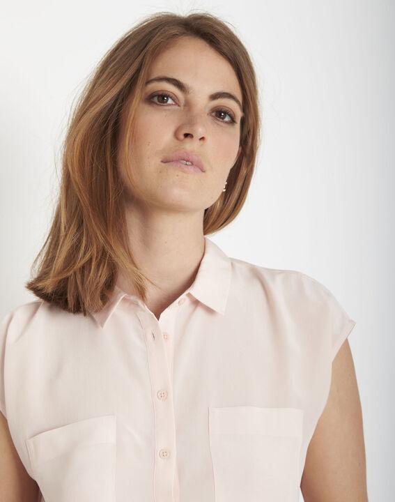 Veziane powder pink silk blouse (4) - Maison 123