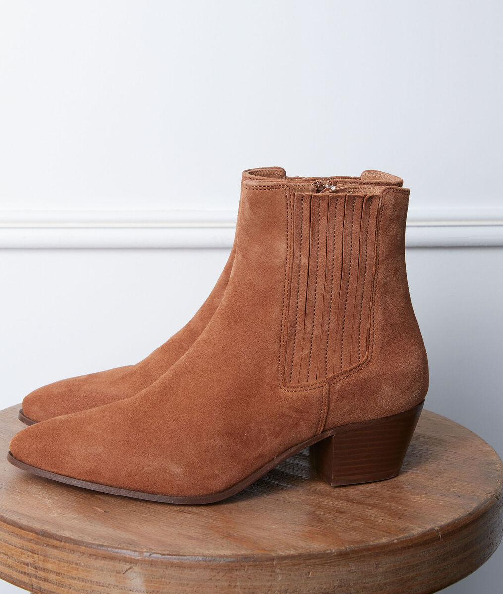 Gaby camel-coloured high-heeled ankle boots PhotoZ | 1-2-3