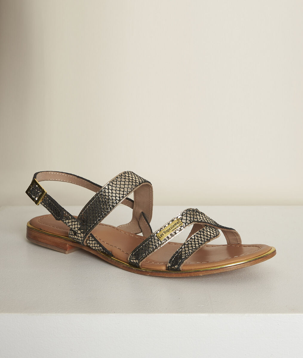 Les Tropéziennes Jodie python leather sandals PhotoZ | 1-2-3