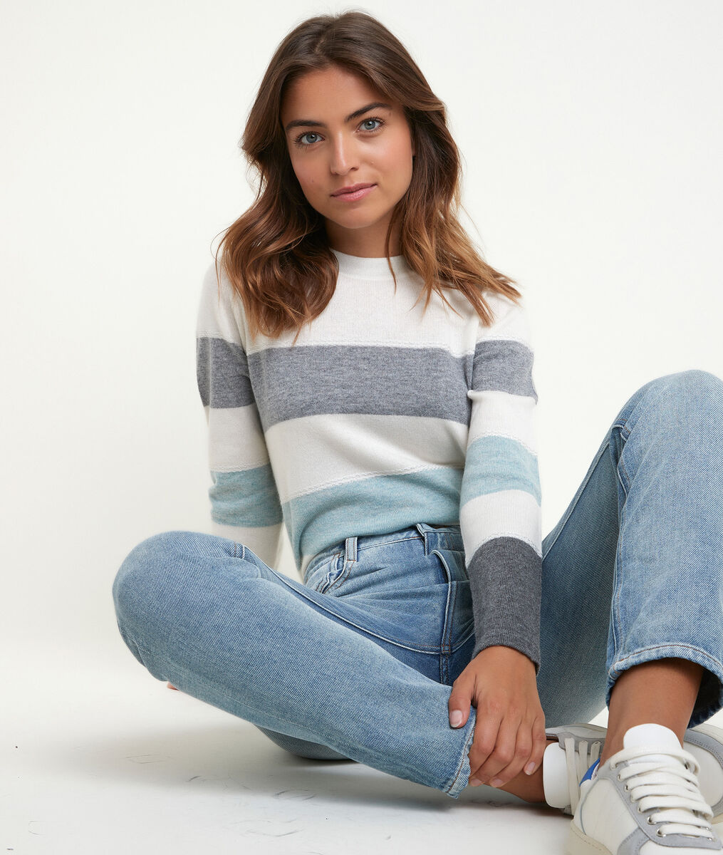 Ray celadon striped pullover PhotoZ | 1-2-3