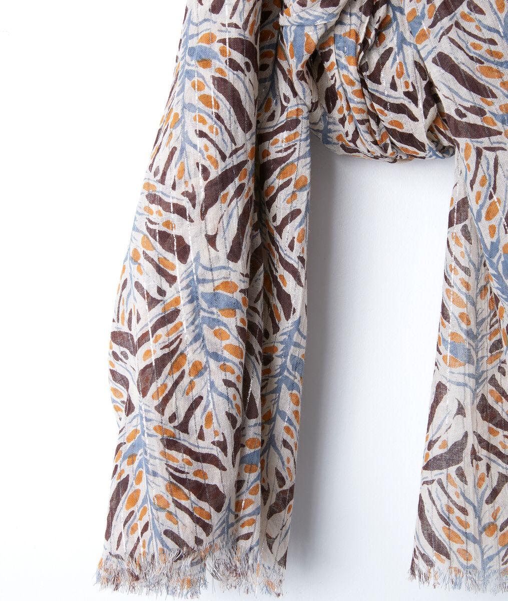 Brian printed cotton scarf PhotoZ | 1-2-3