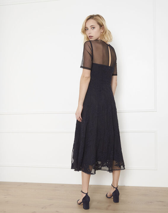 Hester navy lace and tulle dress (4) - Maison 123