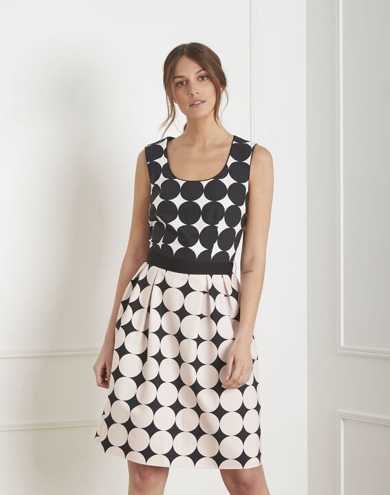 Hisis black & white polka dot print dress PhotoZ | 1-2-3