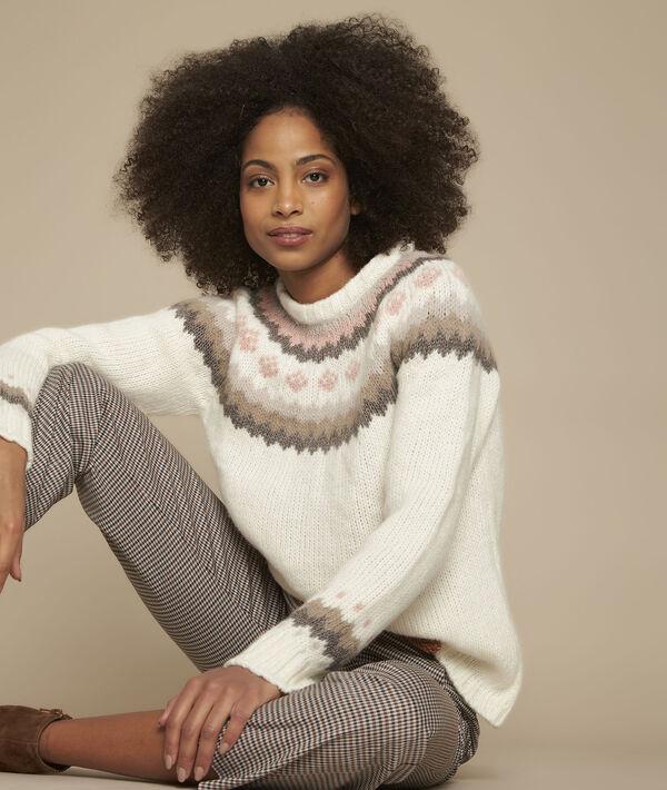 Foussia jacquard raw pullover PhotoZ | 1-2-3