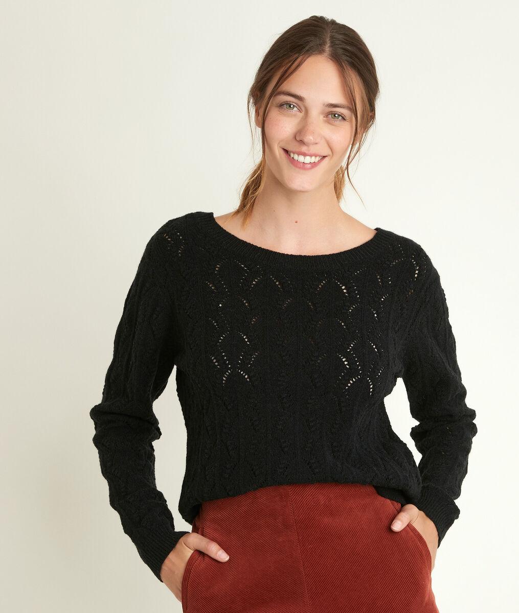 Russel openwork black pullover PhotoZ | 1-2-3