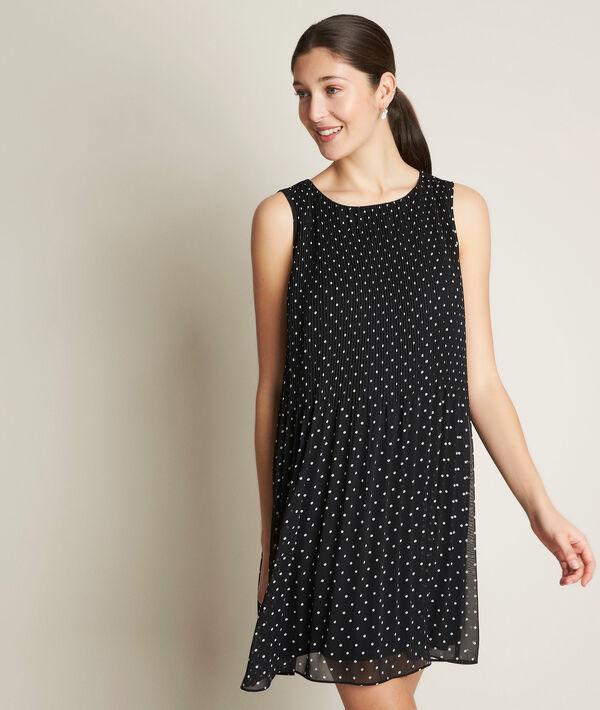 Carlota pleated polka dot dress PhotoZ | 1-2-3
