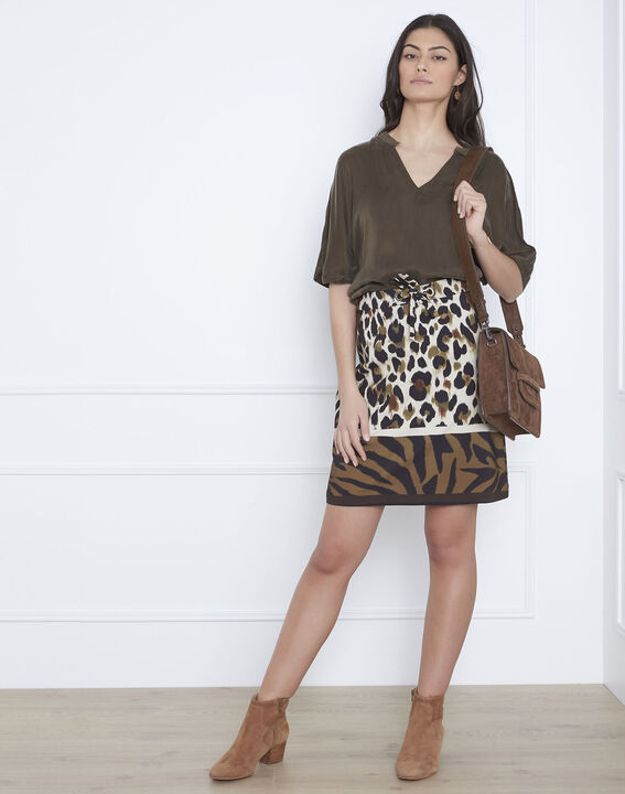 Venise khaki loose-fitting top PhotoZ | 1-2-3
