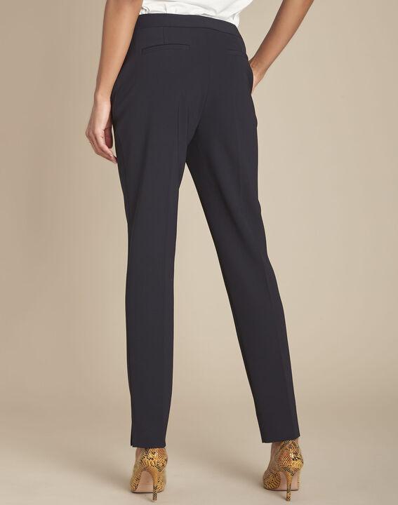 Lara navy microfibre trousers (3) - Maison 123