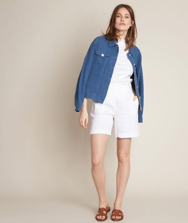 Iago white linen shorts PhotoZ   1-2-3