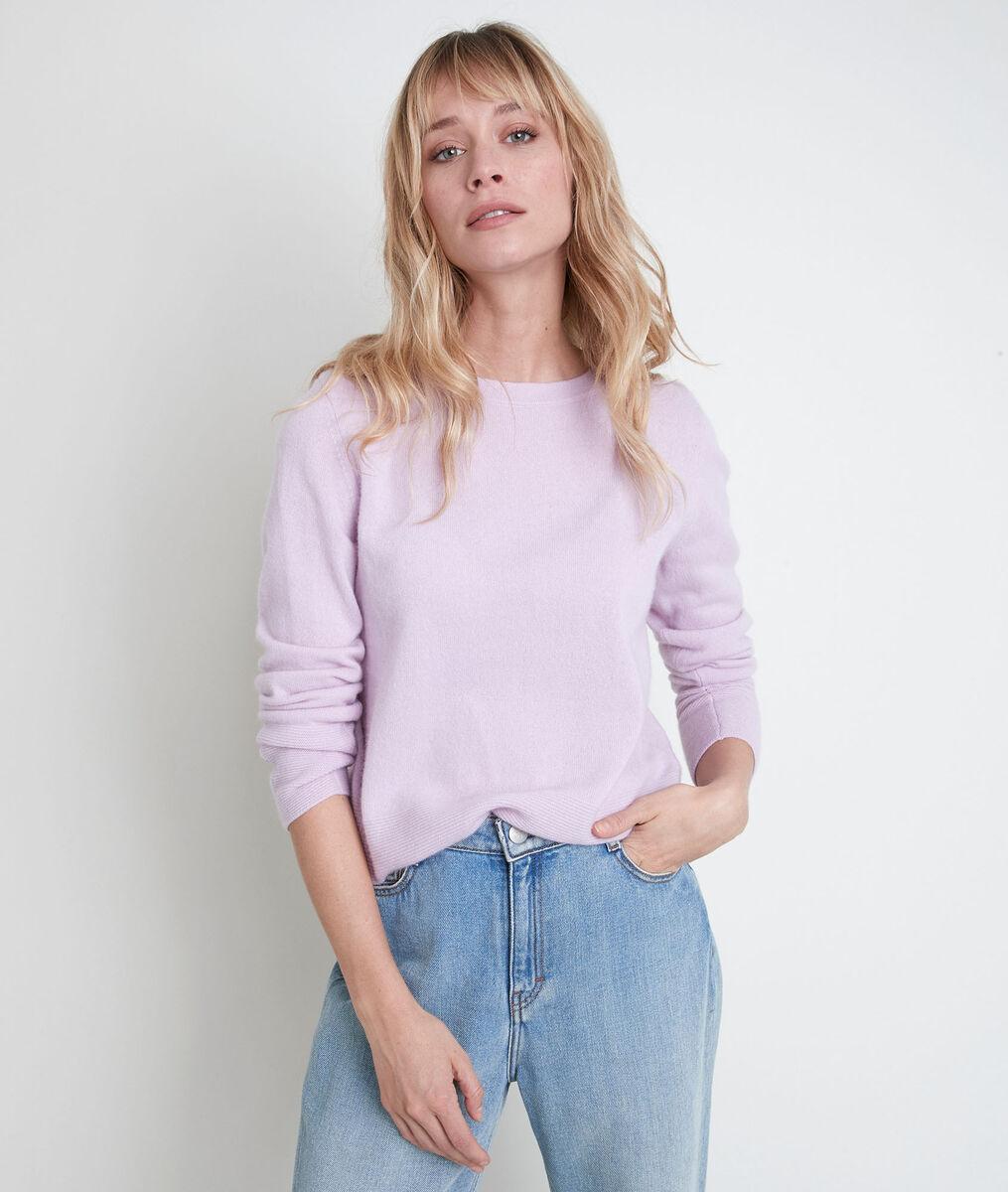 River mauve cashmere pullover  PhotoZ | 1-2-3