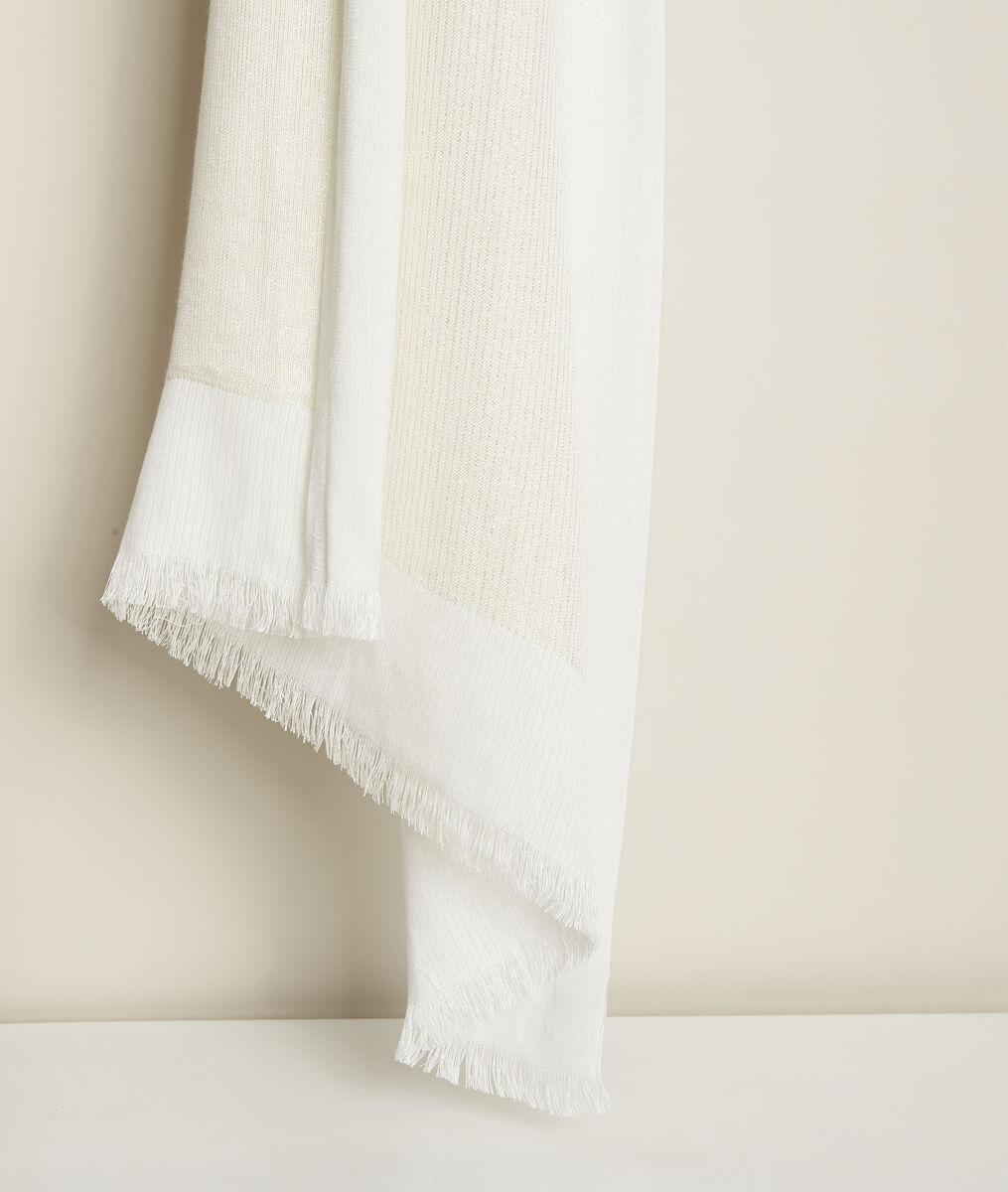New Osiris ecru metallic scarf PhotoZ   1-2-3