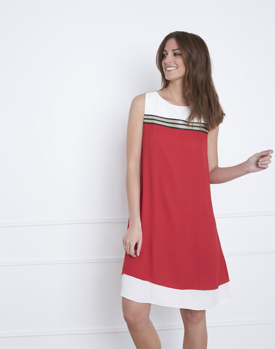 Isola red dress with lurex detailing (1) - Maison 123