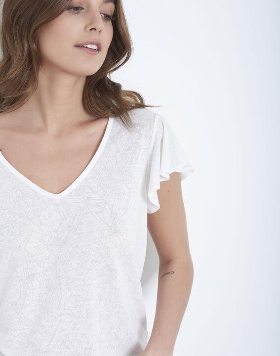 Palma ecru ruffled t-shirt (3) - Maison 123