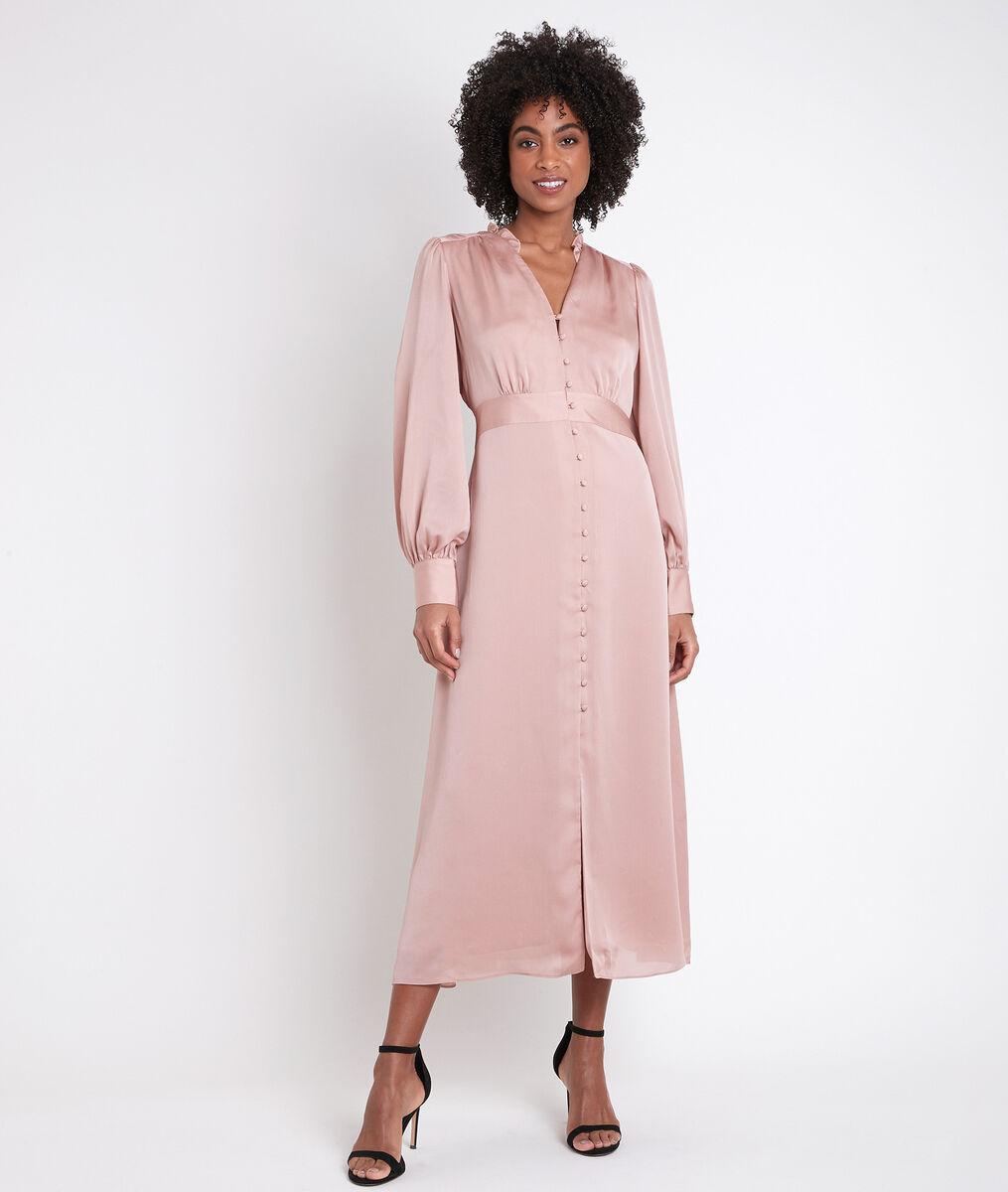 Carmen straight-cut buttoned dress PhotoZ | 1-2-3