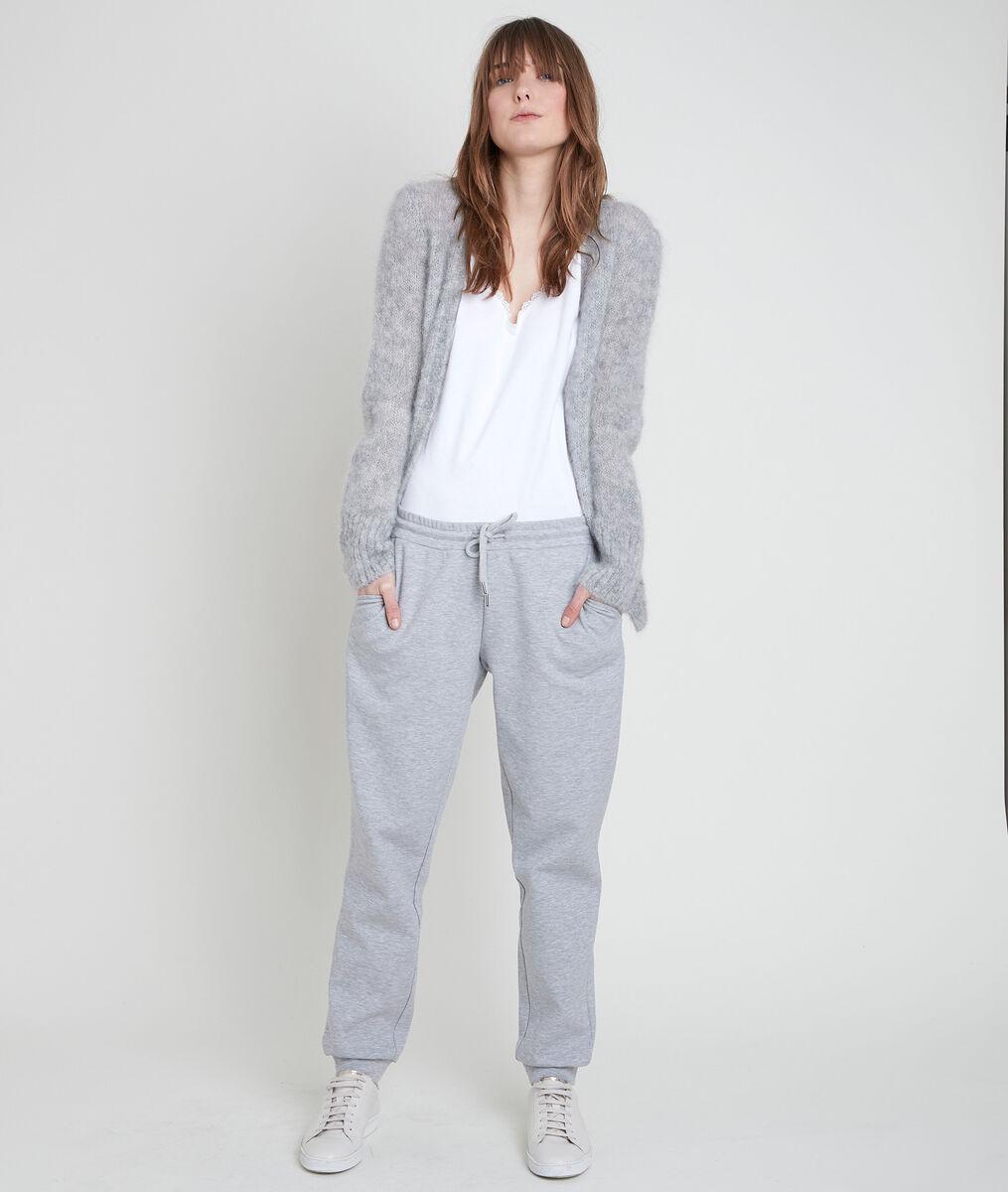 ROZELLE grey mohair blend cardigan PhotoZ | 1-2-3