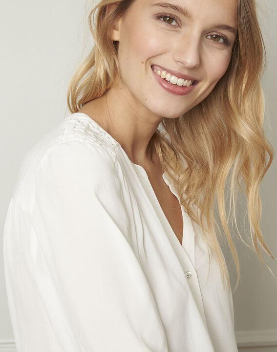 Valda ecru V-neck viscose blouse  (4) - Maison 123