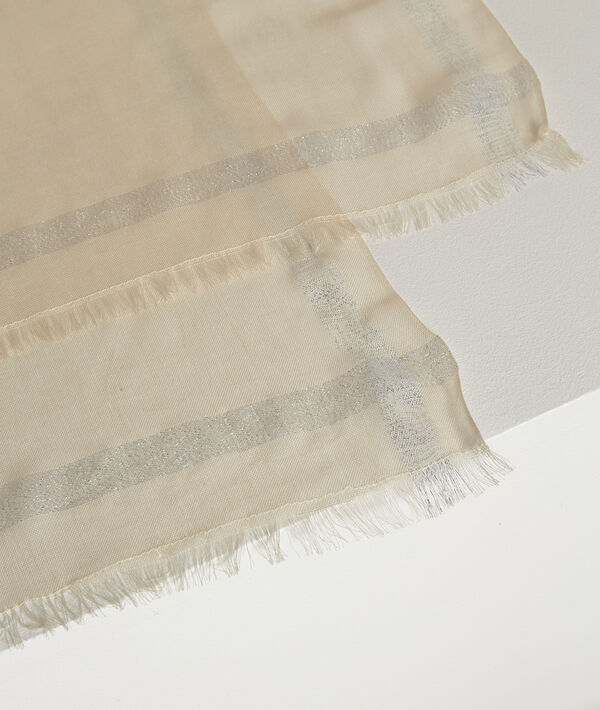 Orelia ivory lurex scarf PhotoZ | 1-2-3