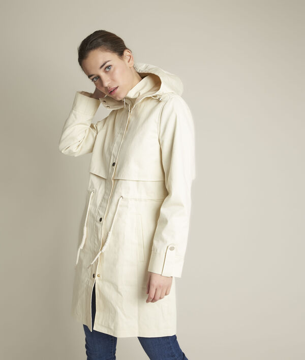 Fanelly water repellent hooded trench coat PhotoZ | 1-2-3